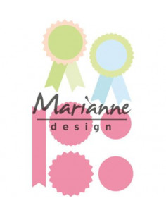 Fustella Marianne Design Collectables - Eline's Rosettes & labels COL1444