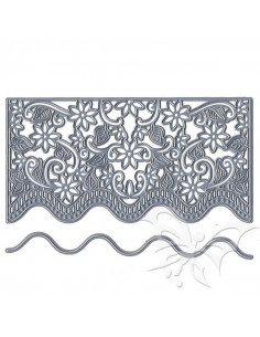 Fustella + libretto Embossing - Anja's flower border DF3444