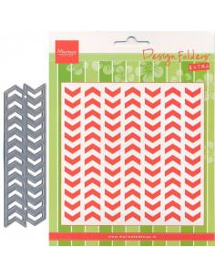 Marianne Design libretto Embossing + fustella - Tyre Tracks DF3407