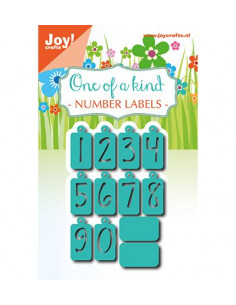 Fustella Joy craft - Label numbers 6002/1083