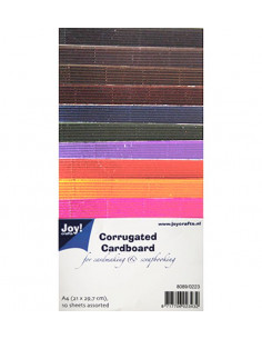 Set 10 sheets Colored Corrugated Paper Metallic A4