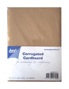 Set 10 Fogli Cartoncino Ondulato Craft A4
