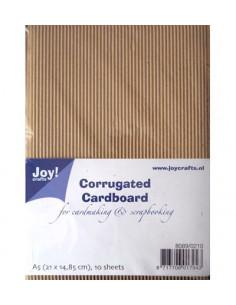 Set 10 Fogli Cartoncino Ondulato Craft A5