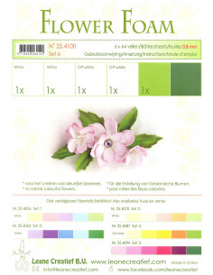 Set 6 fogli A4 Flower Foam 6 multicolore 0,8mm