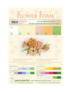 Set 6 fogli A4 Flower Foam 3 multicolore 0,8mm