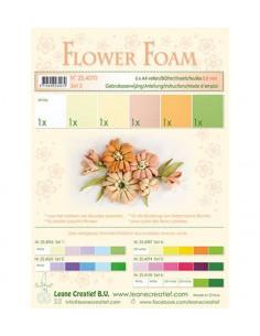 Set 6 fogli A4 Flower Foam 3 multicolore 0,8mm
