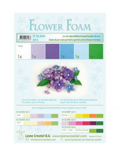 Set 6 fogli A4 Flower Foam 2 multicolore 0,8mm