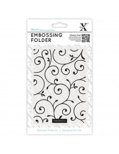 Xcut Universal A6 Embossing Folder - Delicate Flourishes XCU515126