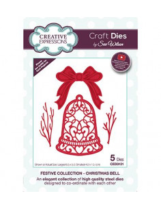 Fustella Creative Expressions - Christmas Bell CED3131