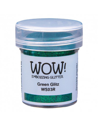 Wow! Polvere Embossing Glitters 15ml - Green Glitz WS03R