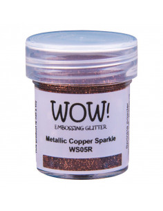 Wow! Polvere Embossing Glitters 15ml - Metallic Copper Sparkle WS05R