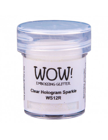 Wow! Polvere Embossing Glitters 15ml - Clear Hologram Sparkle WS12R