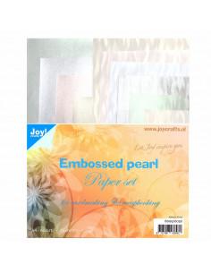 Set 10 Fogli A4 carta perlescente effetto filigrana 120gr