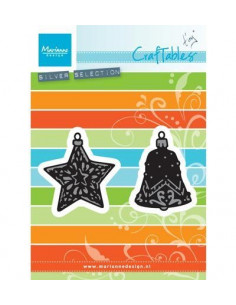 Fustella Marianne Design Tiny's ornaments star & bell CR1382