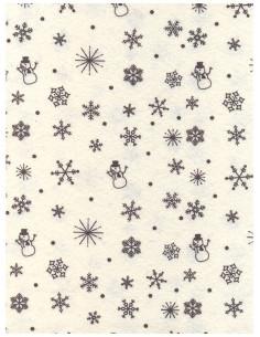 Panno stampato Panna-Marrone - Neve 1mm 30x40cm
