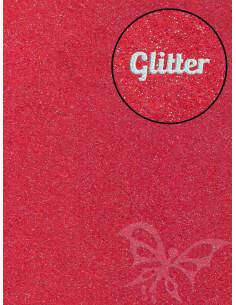 Feltro Glitter Rosso 3mm 50x70cm