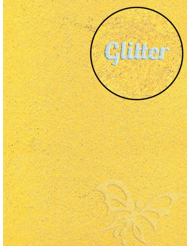 Feltro GLITTER FINE Giallo Mais 30x40cm 1mm