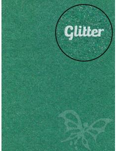 Feltro GLITTER FINE Verde 30x40cm 1mm