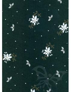 Panno stampato Poinsettia Verde scuro-Bianco 1mm 30x40cm