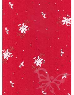 Panno stampato Poinsettia Rosso-Bianco 1mm 30x40cm