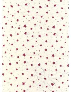 Panno stampato Stelline Panna-Rosso 1mm 30x40cm