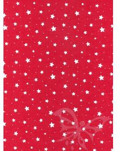 Panno stampato Stelline Rosso-Bianco 1mm 30x40cm