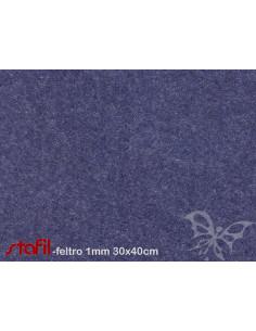 Foglio FELTRO 30x40cm 1mm Blu avio Melange 25017033