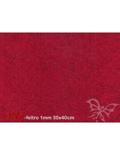 Foglio FELTRO 30x40cm 1mm Rosso melange 25017052