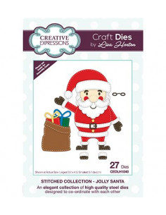 Fustella Creative Expressions - Jolly Santa CEDLH1040