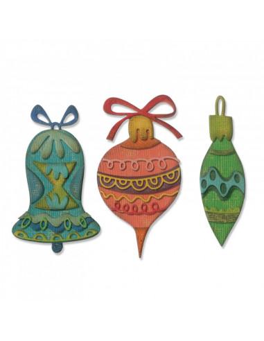 Fustella Sizzix Thinlits Set 22 pz - Whimsy Décor 663102