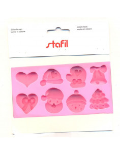 Silicone Molds - Christmas Decorations x 8pk.
