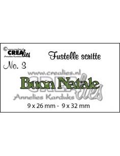 Fustella Crealies scritte Buon Natale CLFS03