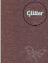 Feltro Glitter Marrone scuro 3mm 50x70cm