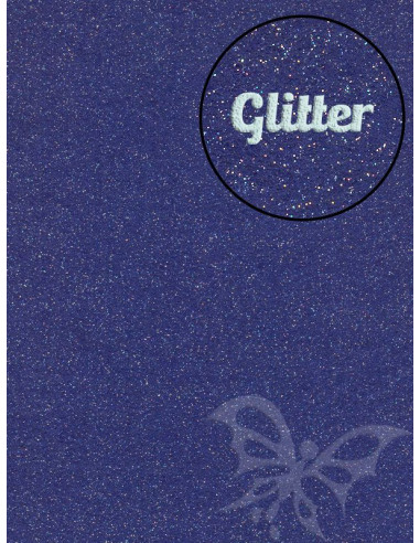 Feltro Glitter Blu scuro 3mm 50x70cm
