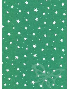 Panno stampato Stelline Verde-Bianco 1mm 30x40cm