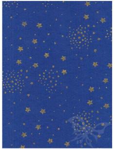 Panno stampato Bluette - Stelle Oro Glitter 1mm 30x40cm