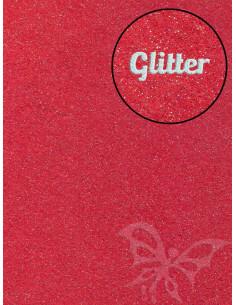 Feltro GLITTER FINE Rosso 30x40cm 1mm