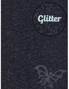 Feltro GLITTER FINE Nero 30x40cm 1mm