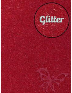 Feltro GLITTER FINE Rosso scuro 30x40cm 1mm