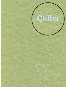 Feltro GLITTER FINE Verde Salvia 30x40cm 1mm
