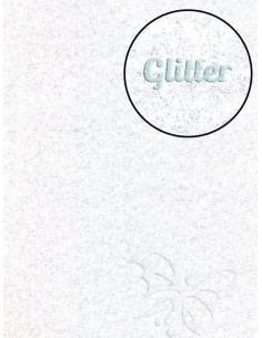 Feltro GLITTER FINE Bianco 30x40cm 1mm