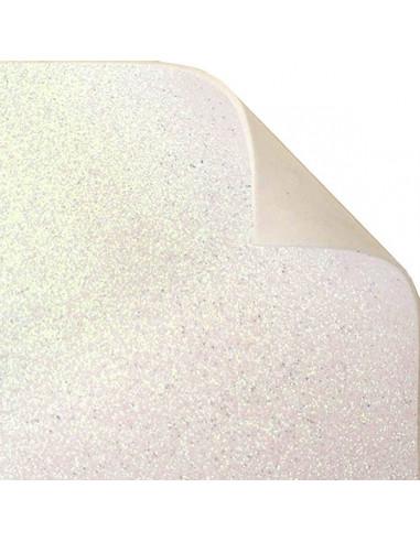 "Foglio Moosgummi glitter ""Bianco"" 40x60cm"