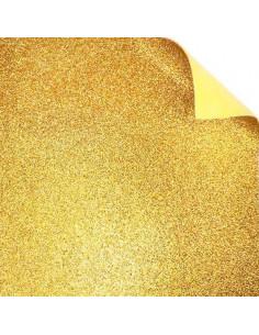 "Foglio Moosgummi glitter ""Oro"" 40x60cm"