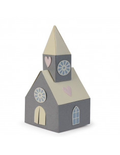 Fustella Sizzix Thinlits Set 8Pz - Scandi Church 662550