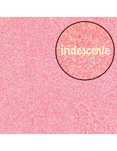 "Foglio Moosgummi glitter ""Rosa iridescente"" 40x60cm"