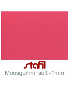 "Foglio moosgummi Soft ""Rosso scuro"" 40x60cm 1mm"