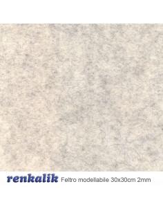 Feltro Modellabile 30x30cm col.955 Perla melange