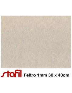 Foglio FELTRO 30x40cm 1mm Beige