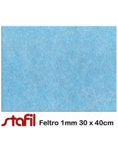 Foglio FELTRO 30x40cm 1mm Azzurro