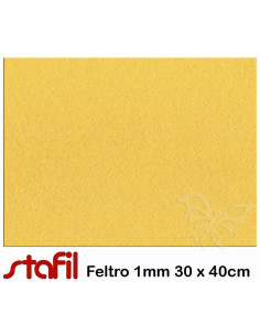 Foglio FELTRO 30x40cm 1mm Giallo